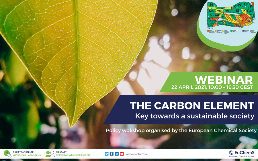 Webinar 'The Carbon element – Key towards a sustainable society'